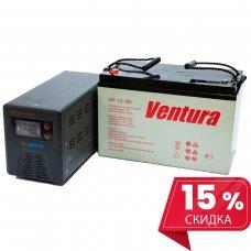 Инвертор(ИБП) Энергия Гарант 500 ВА + Аккумулятор Ventura 12В - 100 Ач