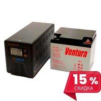 Инвертор(ИБП) Энергия Гарант 500 ВА + Аккумулятор Ventura 12В - 40 Ач