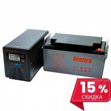Инвертор(ИБП) Энергия Гарант 500 ВА + Аккумулятор Ventura 12В - 65 Ач